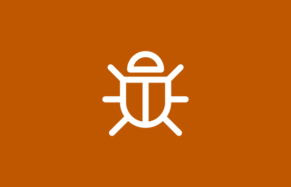Icon that depicts malware.